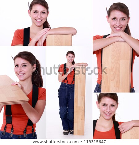 snapshots of young female carpenter Stock photo © photography33