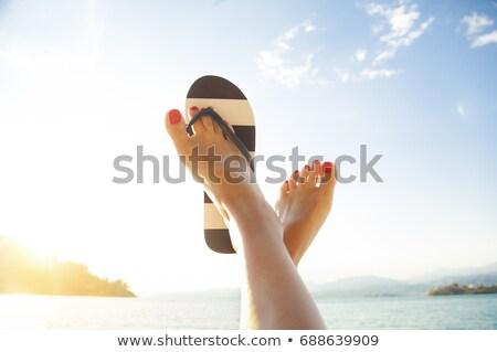 Kadın ayaklar kadın vücut sağlık yaz Stok fotoğraf © Nobilior