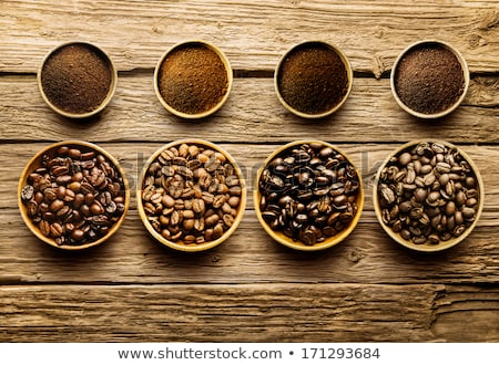 coffee beans on weathered wood Stock photo © gewoldi