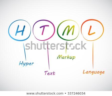 hyper text markup language stock photo © kbuntu