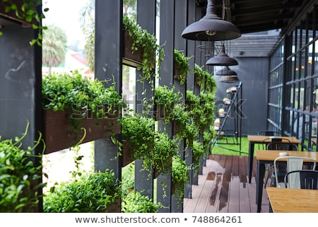 Stock photo: Outdoor cafe interior