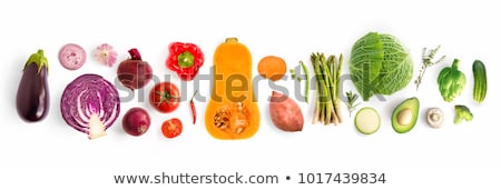 Sütőtök zöldség zöld levelek izolált fehér eps10 Stock fotó © LoopAll