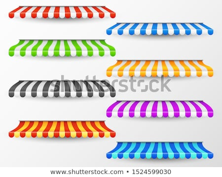 storefront awning in various colors stock photo © experimental