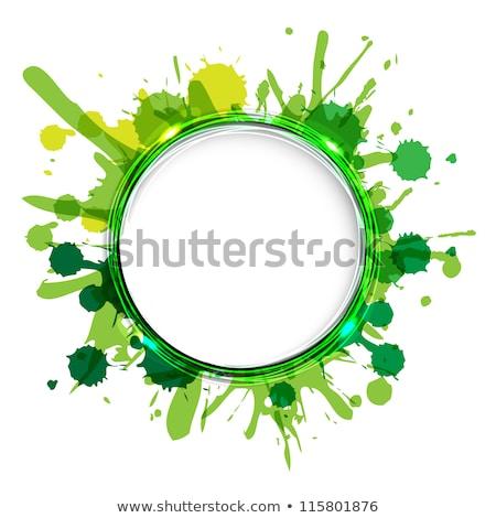 Dialog Ballons grünen Papier Hintergrund Kommunikation Stock foto © adamson