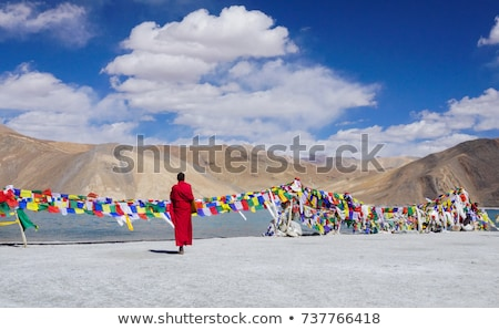 secar · lago · India · valle · paisaje · montana - foto stock © haraldmuc