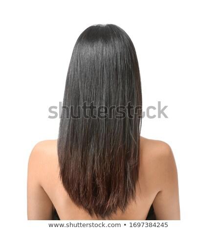 Moda modelo cabelos lisos isolado preto Foto stock © Victoria_Andreas