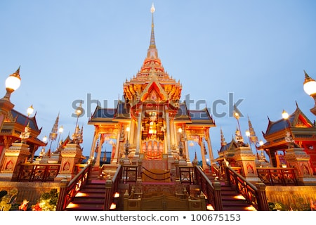 Thai real funeral templo Bangkok Tailândia Foto stock © Witthaya