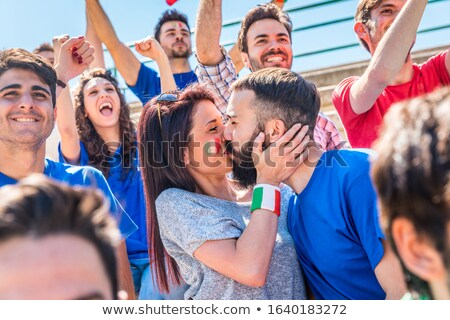 Couple supporting the Italian football team Stock photo © photography33