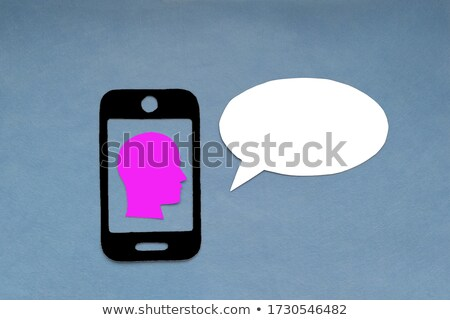 silhouette of a man head with colorful business idea text balloons Stock photo © fotoscool
