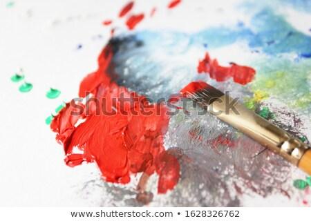 Festmény folyamat olaj vászon textúra terv Stock fotó © tannjuska