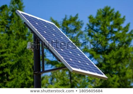 Zonne batterij hemel zon natuur technologie Stockfoto © Leonardi