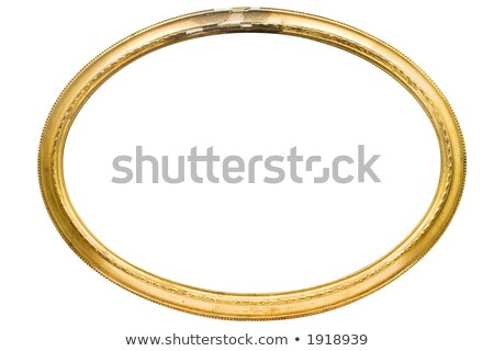 Damaged Oval Picture Frame with Clipping Path Stock photo © winterling