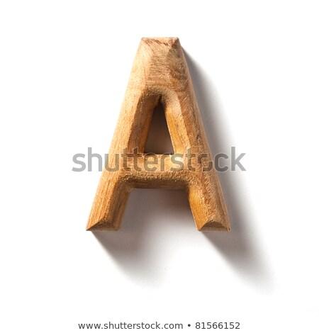 wooden alphabet - letter A Stock photo © ozaiachin