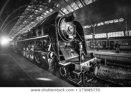 detail of old steam machine Stock photo © jonnysek