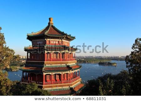 kunming lake from longevity hill summer palace beijing china stock photo © billperry
