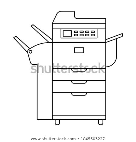 紙 · サイズ · レーザー · 標識 · デジタル · プリンタ - ストックフォト © cheyennezj