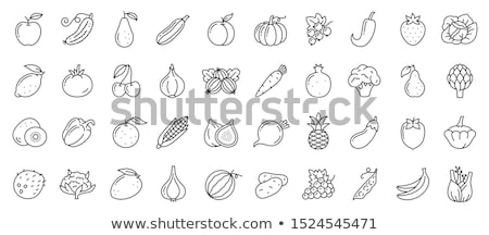Stock photo: Lemons, Zucchinis and Kiwis