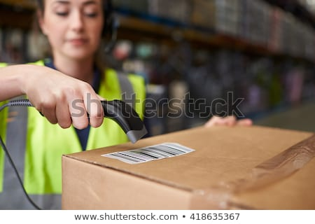 part of woman with barcode Stock photo © ssuaphoto