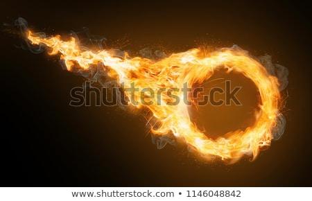 Stock fotó: Tűz · labda · részletes · illusztráció · terv · háttér