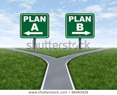 Cruz carreteras plan plan b las senales de tráfico negocios Foto stock © Lightsource