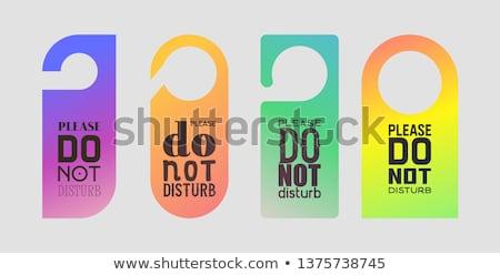 Ajtóküszöb szett ajtó fogantyú minta tér Stock fotó © kistrialos