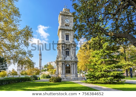 tower with clock in dolmabahce palace   istanbul stock photo © mikko