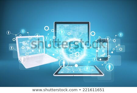 transparent globe on a laptop  keyboard  Stock photo © Grazvydas