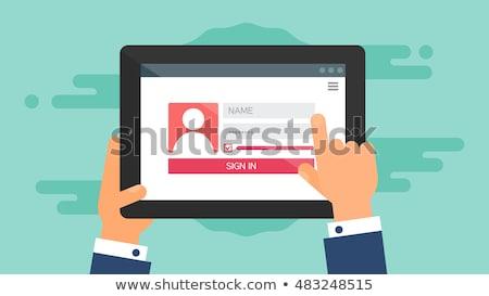 Sign-up Menu Stock photo © cteconsulting