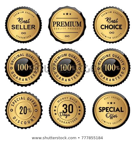 Stock fotó: Arany · címke · szett · kép · címkék · üzlet
