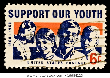 support our youth USA  postage stamp  Stock photo © Snapshot