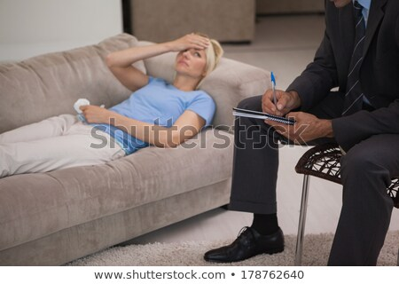 Woman lying on therapists couch Stock photo © wavebreak_media