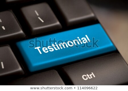 Testimonial on Return key stock photo © REDPIXEL