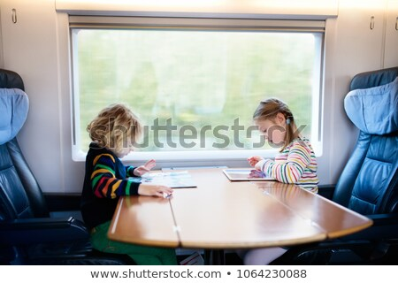 Children on Train stock photo © mintymilk