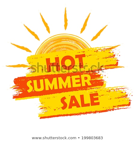 summer discount in label with sun stock photo © marinini
