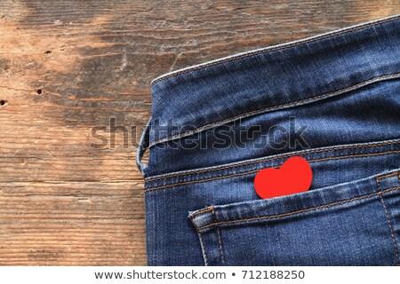 Walentynki serca dżinsy kieszeni wektora tekstury Zdjęcia stock © gubh83