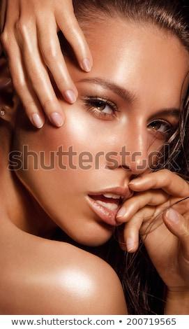 Sötét bőr gyönyörű gyönyörű nő nő divat Stock fotó © rcarner
