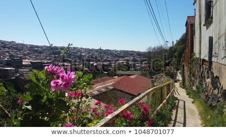 Színes átjáró 2011 hagyományos házak épület Stock fotó © fxegs