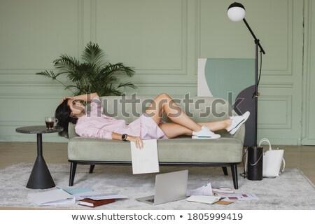 деловая женщина папке портрет устал белый Сток-фото © williv