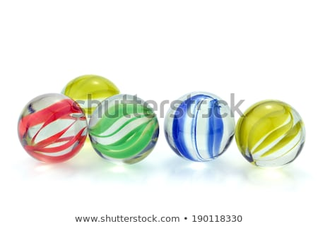 glass marbles with blue reflections  Stock photo © lunamarina