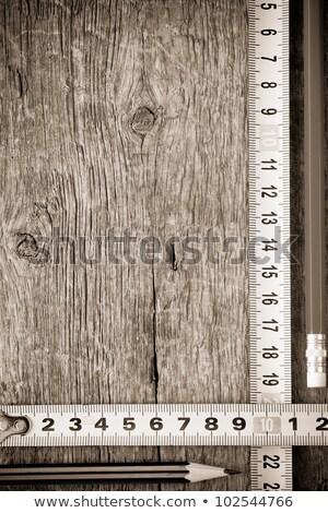Сток-фото: стали · правителя · древесины · карандашом · бумаги · графа