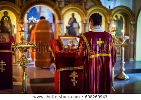 Vela suporte ortodoxo igreja vintage escuro Foto stock © sirylok