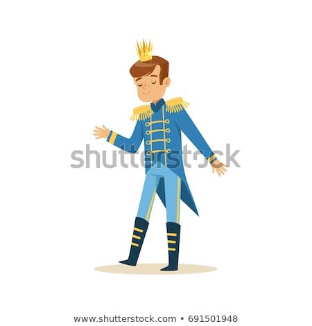 engraçado · príncipe · vetor · desenho · animado · ilustração · corpo - foto stock © ddraw