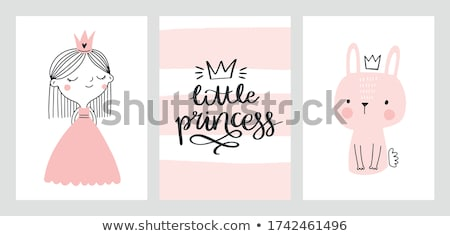 magia · castillo · princesa · príncipe · vector · nina - foto stock © ddraw
