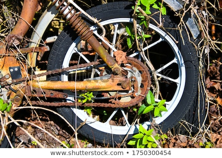 Old Rusty Antique Tire Abstract Stock photo © feverpitch