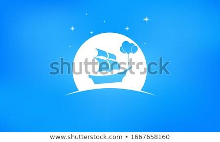 csillag · ikon · fényes · kék · izolált · fehér - stock fotó © zeffss