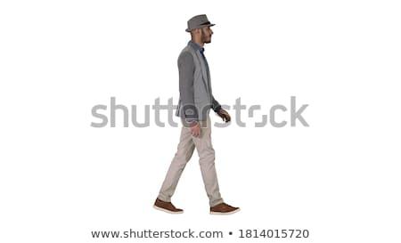 Man hoed naar licht fedora achtergrond Stockfoto © pxhidalgo