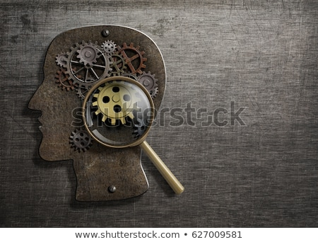magnifying glass with psychological concept stock photo © tashatuvango