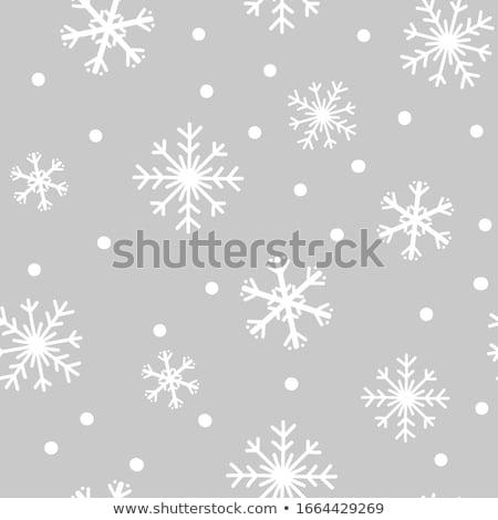 hópelyhek · végtelen · minta · vektor · fehér · ünnep · tél - stock fotó © alexmakarova