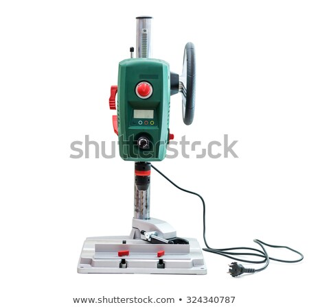 Bench-mounted drill press isolated on white background. Stock photo © Leonardi