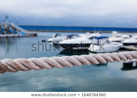 Yelkencilik mavi deniz yat tek başına gökyüzü Stok fotoğraf © gllphotography